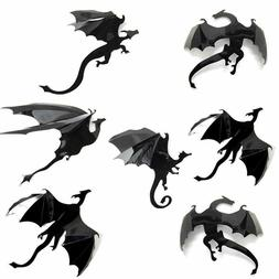 DRAGON Wall Decals / Stickers  : 7 Pack Set Pcs : Game of Th