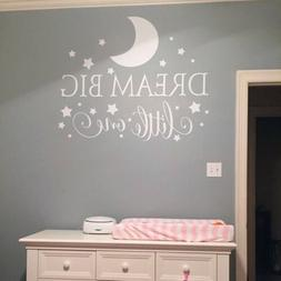 Dream Big Little One Wall Sticker Decal Quote Nursery Bedroo