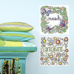 DREAM IMAGINE QUOTES Color your own Decals Wall Adult Colori