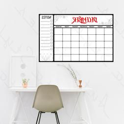 DRY ERASE BOARD CALENDAR Wall Decals Peel & Stick Stickers K