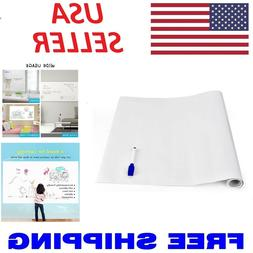 Dry Erase Whiteboard Stick Decal Wall Self Adhesive White Bo