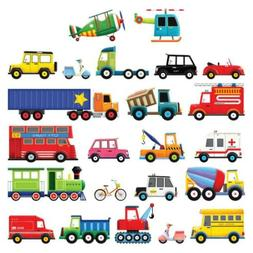 Decowall DS-8004 27 Transports Kids Wall Stickers Decals Pee