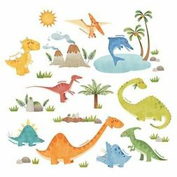 DECOWALL DS-8019 Dinosaurs Kids Wall Stickers Decals Peel an