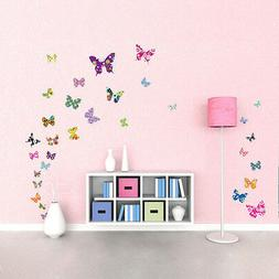 Decowall DW-1201 38 Colourful Butterflies Nursery Wa kid roo
