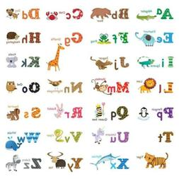 Decowall DW-1308 Alphabet ABC and Animals Kids Wall Decals S