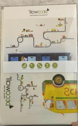 Decowall DW-1404S The Road and Cars Nursery Kids Wall Sticke