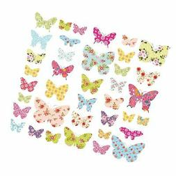 Decowall DW-1408 Patterned Butterflies Kids Wall Decals Wall