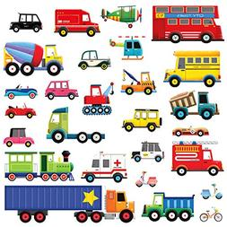 Decowall DW-1605 27 Transports Kids Wall Stickers Wall Decal