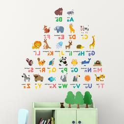 Decowall DW-1614 Colourful Animal Alphabet Wall Stickers KID