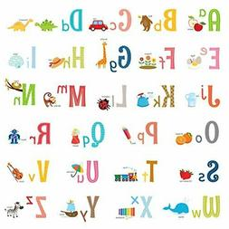 Decowall DW 1701S Uppercase Alphabet ABC with Pictures Kids