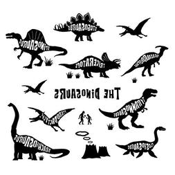 Decowall DWG-603B Dinosaurs Graphic Kids Wall Decals Wall St