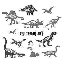 Decowall DWG-603G Dinosaurs Graphic Kids Wall Decals Wall St