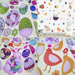 Easter Bunnies Wall Decals Eggs Removable Peel & Stick Stick