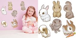 Easter Bunnies Wall Decals Peel & Stick Removable Reusable D