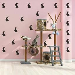 Easter Bunnies Wall Decals Peel and Stick Removable Reusable