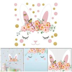 Easter Creative Rabbit Cartoon Decorative Wall Sticker For C