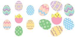 Easter Eggs Wall Decals Peel & Stick Removable Reusable Deco