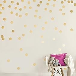 Easy Peel + Stick Gold Wall Decal Dots - 2 Inch  - Safe on W