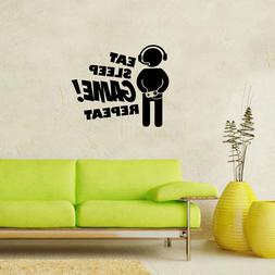 Eat Sleep Game! Repeat Vinyl Wall Decals Great for Kids Deco