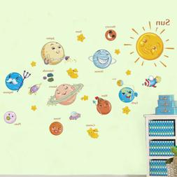 education solar system planets wall sticker space universe k
