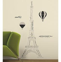 RoomMates Eiffel Tower Neutral Peel & Stick Giant Wall Decal