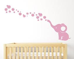 Elephant Bubbles Nursery Wall Decal Room Decor
