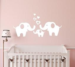 ANBER Elephant Family Wall Decal Removable Vinyl Wall Art El