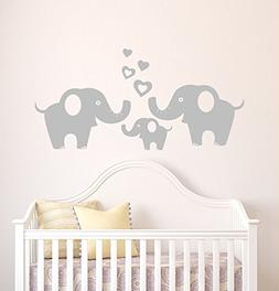 Elephant Family Wall Decal Removable Vinyl Wall Art Elephant
