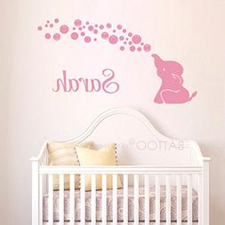BATTOO Elephant Name Wall Decal - Elephant Wall Decal Blowin