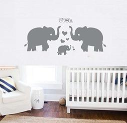 Elephant Wall Decal Family Wall Decal With Red Heart Red But