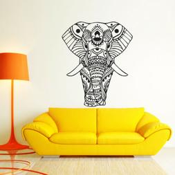 elephant wall sticker mandala flower pattern animal