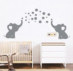 LUCKKYY Elephant Family Wall Decal Removable Vinyl Wall Art