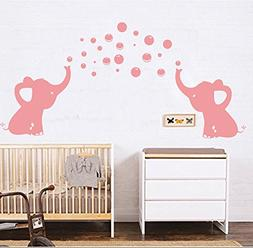 LUCKKYY Elephants Bubbles Wall Decal Vinyl Wall Sticker Wall