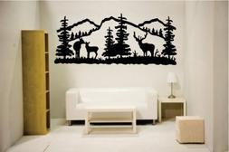 Newclew Elk deer nature mountain hunting removable Vinyl Wal