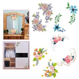 Exquisite Flowers Toilet Fridge Wardrobe Wall Stickers Decal