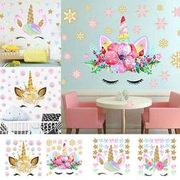 Fairy Unicorn Star Heart Wall Sticker Removable Girl Kid Art