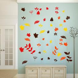 Fall Leaves Leafs Vinyl Stickers Wall Decals