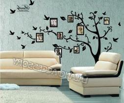 Family Black Tree Wall Sticker Art Living Room Removable Dec