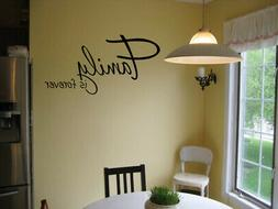FAMILY IS FOREVER VINYL WALL DECAL QUOTE WORDS STICKER DECAL