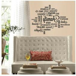 Family Quote Peel and Stick Wall Decal RoomMates Easy To App