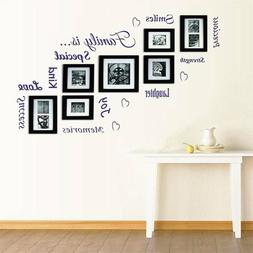 Family Quote Picture Photo Frames Wall Stickers Living Room