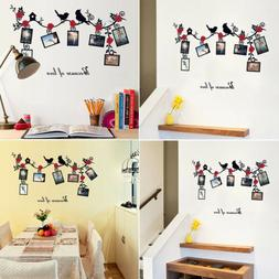 Family Tree Birds Photo Frame Quotes Wall Stickers Art Decal
