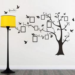 Family Tree Birds Photo X-Large Frame Quotes Wall Stickers A