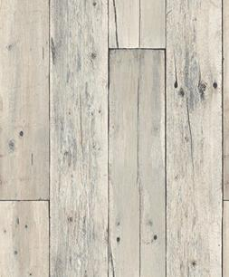 Blooming Wall: Faux Wooden Planks Wood Panel Wallpaper Wall