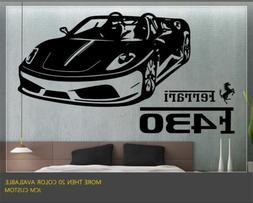 "Ferrari F430 Spider Sport Car Wall Decal / 40"" X 22"""