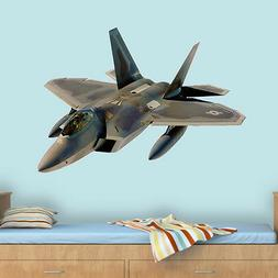 Fighter Jet Wall Sticker Jet Plane Wall Decal Boys Room Wall