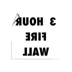 3 Hour Fire Wall Security LABEL DECAL STICKER Sticks to Any