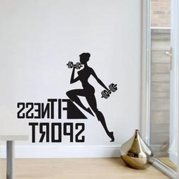 Fitness Wall Art Stickers Sport Health Gym Exercise Decals V
