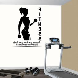 Fitness Wall Decals. Gym. Exercise: Fitness because you love