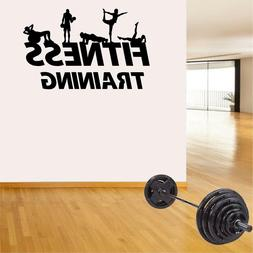 Fitness Wall Decals. Gym. Exercise: Fitness Silhouettes.